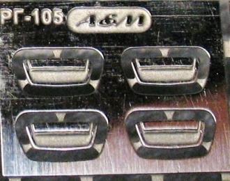 Фототравление Дверные ручки для Горький 3105, блестящий никель