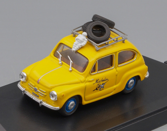 FIAT 600 Berlina Michelin, yellow