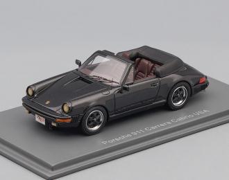 PORSCHE 911 Carrera Cabrio 1985, black