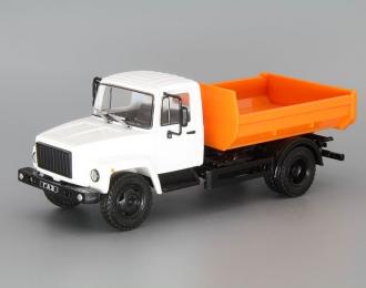 Горький-35072 самосвал, Грузовики СССР 32, белый / оранжевый