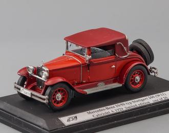 MERCEDES-BENZ 10/50 typ Stuttgart 260 (W11) Cabriolet A (1929), red