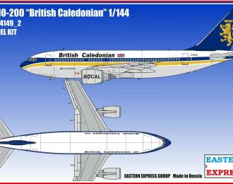 Сборная модель Авиалайнер А310-200 British Caledonian