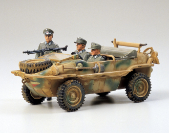 Сборная модель Немецкий автомобиль амфибия SCHWIMMWAGEN, с тремя фигурами