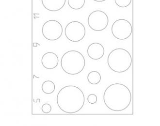 Маска для Круги диаметр 5,7,9,11,13,15 мм