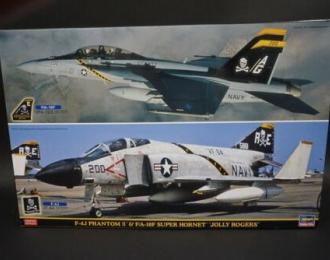 Сборная модель Cамолеты F-4J PHANTOM II and F/A-18F SUPER HORNET JOLLY ROGERS Two kits