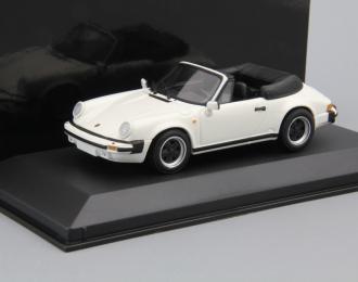 PORSCHE 911 Carrera Cabriolet (1983), white