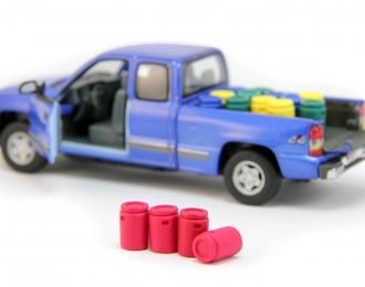 Набор пластиковых евробочек (50 литров) 4 шт, красный