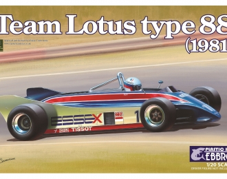 Сборная модель Спортивный автомобиль Team Lotus type 88 1981