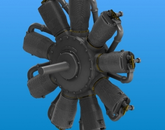 Набор для доработки Авиадвигатель Le Rhone 110-120 h.p. Oberursel Ur.II
