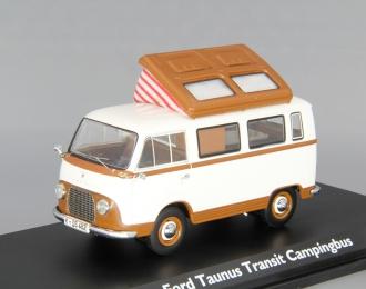 FORD Taunus Transit FK 1000 Campingbus, brown / white