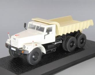 KRAZ 256, серия грузовиков от Atlas Verlag, белый / бежевый