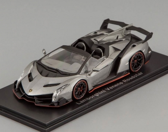 LAMBORGHINI Veneno Roadster, gray with red line