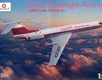 Сборная модель Советский пассажирский самолет Ту-134A Interflug