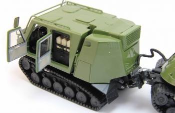 JONYANG JY813, гусеничный тягач с прицепом-цистерна, зеленый