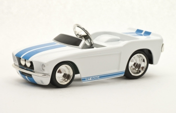 SHELBY GT-500 Pedal Car, white / blue