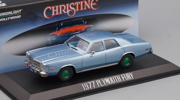 "PLYMOUTH Fury 1977 Blue (машина детектива Рудольфа Дженкинса из к/ф ""Кристина"" 1983) (Greenlight!)"