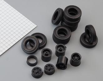 Резина, диски для КРАЗ 6х4 (ИД-304, шашка)