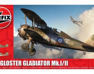 Сборная модель Самолет Gloster Gladiator Mk.I/Mk.II