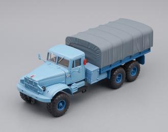 КРАЗ 255Б1 бортовой с тентом (1967), голубой