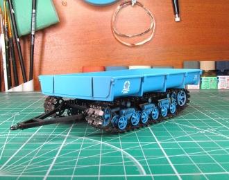 МТП-24Б прицеп гусеничный, синий