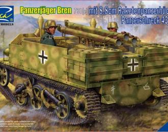 Сборная модель Panzerjager Bren 731(e) mit 8.8 cm Raketenpanzerbuchse