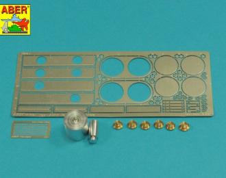Фототравление для Tiger I, E Tunisia 501 abt.- Air filters covers