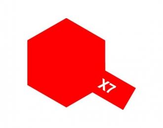 X-7 Red (краска эмалевая, красный глянцевый), 10мл.