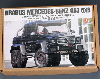 Конверсионный набор Brabus Mercedes-BENZ G63 6X6 Detail-up Set для моделей AUTO 6X6 (Resin+PE+Decals)