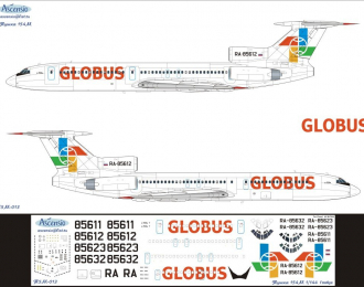 Декаль на самолет тушка-154М (Глобс)