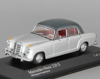 MERCEDES-BENZ 220 S W180 (1956), silver
