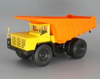 БелАЗ-7525 самосвал-углевоз, желтый / оранжевый