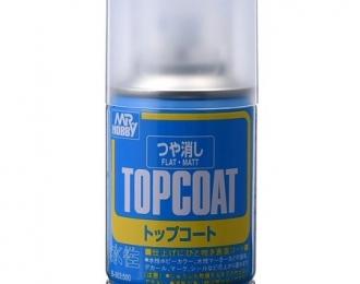 Аэрозольная краска MR.HOBBY Topcoat Flat Spray 86 мл (в баллоне)