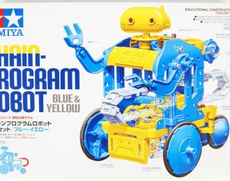 Сборный механически программируемый робот. С двумя электромоторами