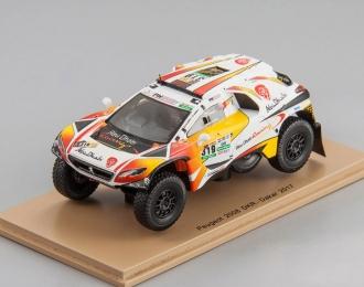 PEUGEOT 2008 DKR #319 Dakar K. Al Qassimi - P. Maimom (2017), white