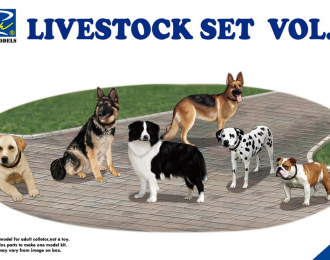 Livestock Set Vol.3 (six dogs)
