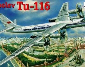 Сборная модель Советский пассажирский самолет Ту-116