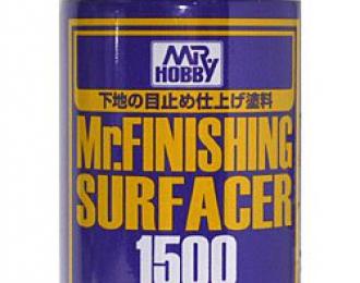 Грунтовка в аэрозольном баллоне Mr.FINISHING SURFACER 1500 GREY 170мл