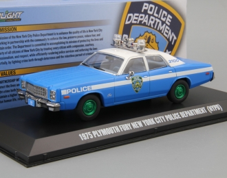 "PLYMOUTH Fury ""New York City Police Department"" (NYPD) 1975 (Greenlight)"