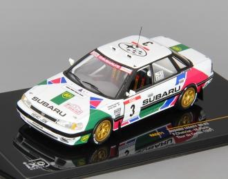 SUBARU Legacy #3 Chariot Tour de Corse (1991), white