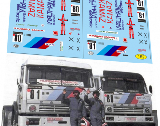 Набор декалей Камский грузовик №80 №81 кольцевой