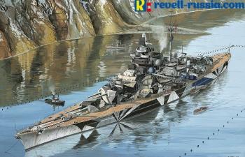 """Сборная модель Немецкий линкор Tirpitz """"Platinum Edition"""""""