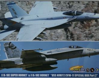 Сборная модель Набор F/A-18E SUPER HORNET/F/A-18C HORNET USS NIMITZ CVW-11