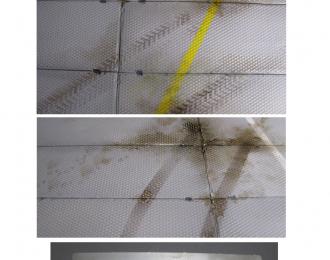 трафарет для нанесения следов от автопокрышек. . 2 вида.шин + следы сапог