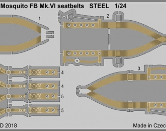 Фототравление для Mosquito FB Mk. VI стальные ремни