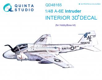 3D Декаль интерьера кабины A-6E Intruder (для модели HobbyBoss)
