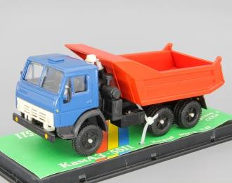 КАМАЗ 5511 самосвал с задним бортом, синий / красный