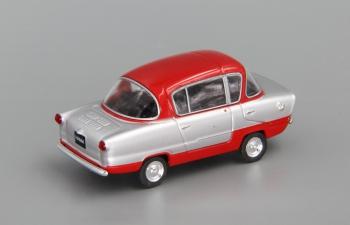 (Уценка!) ИМЗ НАМИ А50 Белка, Автолегенды СССР 115, серебристый с красным
