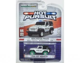 "JEEP Wrangler 4х4 ""Burlington Wisconsin Police"" 2009 (зеленые колеса!)"