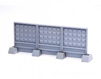 Забор секционный ПО-2 размер XS (3 панели + 4 опоры)