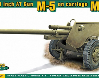 Сборная модель US 3 inch AT Gun M5 on carriage M6 (later version)